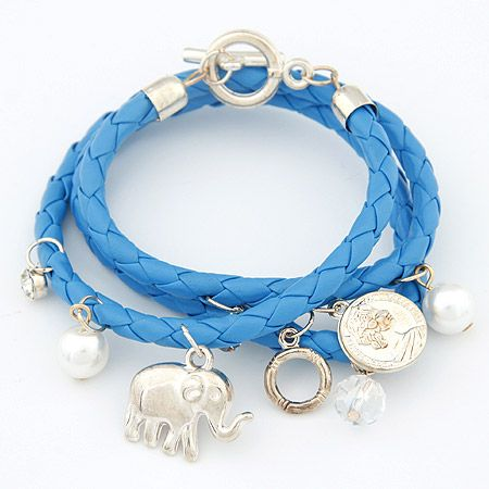 Easy match multi-element ornamental pendants weaving bracelet 201498