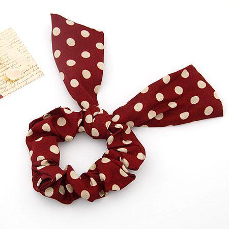 City hunter rabbit scrunchies hair accessories red 201480