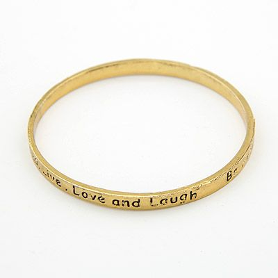 Classic lucky letters bangle ( letters random ) 200037