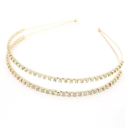 EXQUISITE two row gem headband   hair accessories 198565