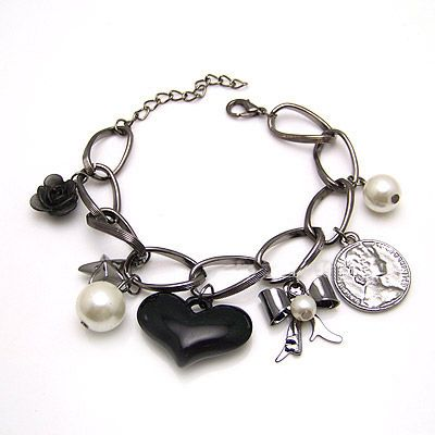 Korean delicate peach heart and bowkont bracelets 181607