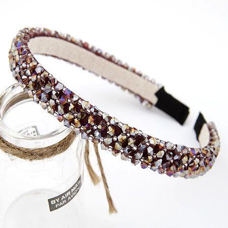 ( four row ) bright handmade bead headband 196421