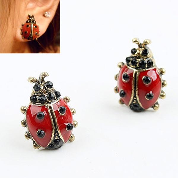 Lovely beetles ear studs 183930