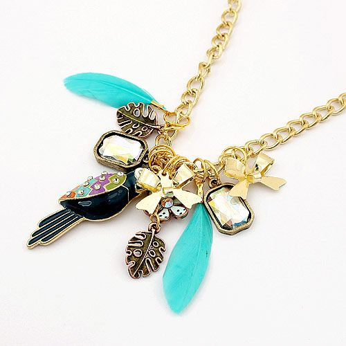 Multi pendant sweater chain 191140