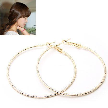 Korean personality hollow ring earrings 158318
