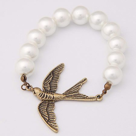 Occident fashion vintage little swallow Beads bracelet 184240