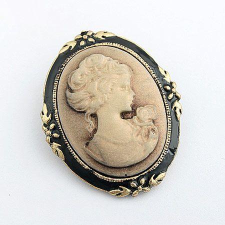 Elegant lady relief brooch 192751