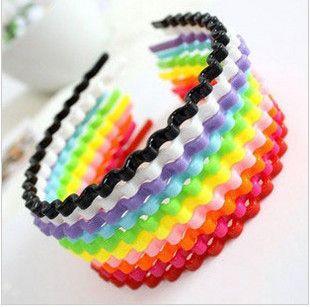 fashion candy color headbands 189112 (Random Color)