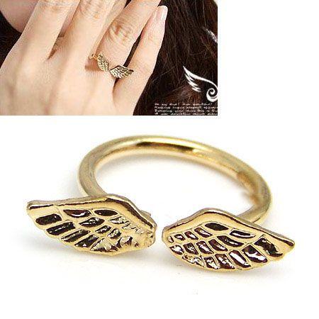 Korean angel wings open rings 164894