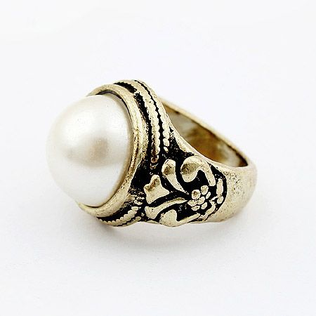 Fashion flowers beads rings with classic style 187412