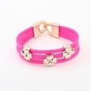 Occident tide fashion clover bracelet  rose  798219