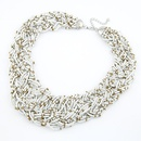 Handmade  Bohemian style  easy match rice beads weave necklace  white  210492