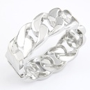 EXQUISITE Occident fashion  alloy color wide chain concise bangle 208790