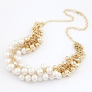 Easy match Sweet beauty Beads necklace  white  208651