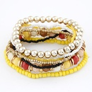 Bohemian style  Mix rice beads multilayer bracelet  blue  208171