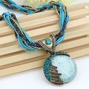 Vintage Mediterranean love necklace  blue  187404