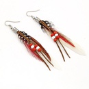 Personality beads and feather earrings white 194706
