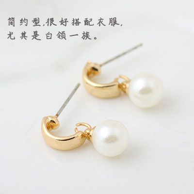 EXQUISITE concise Beads ear studs 210779