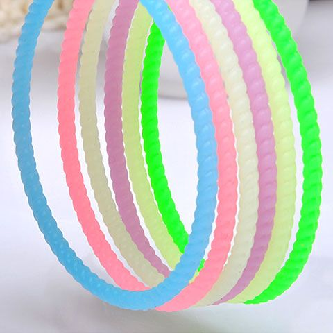 ( 1 unit price ) Gergeous amphibious concise design the wave pattern hair accessories and hand ring ( random color ) 211689