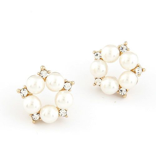EXQUISITE  Sweet gem Beads ear studs 211524