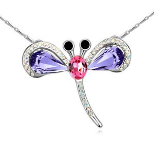 Austrian imitated crystal necklace - Dragonfly Princess ( Pale pinkish purple ) 12747