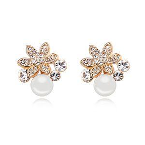 Austria beads earrings  Elixir of Love  White  12734
