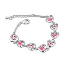 Austrian imitated crystal bracelet  Heart with management  Pale pinkish purple  12796
