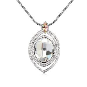 Austria imitated crystal sweater chain - A million years ( White ) 12690