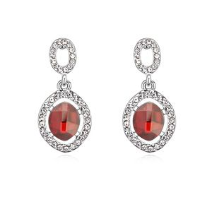 Austria Imitated crystal Earrings - Happy time ( Imitated crystal Red Rock ) 12662