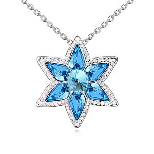 Austria Imitated crystal Necklace  Flower lovers  Light Blue  12625