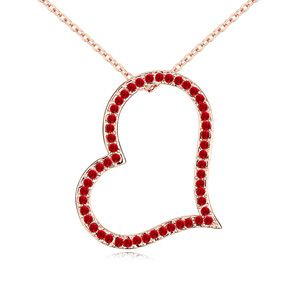 Austria Imitated crystal Necklace  Mind space  Light red  12617