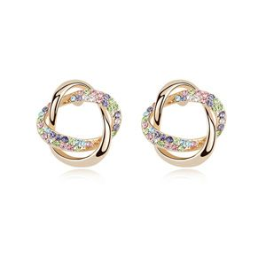 Austria Imitated crystal Earrings - Knot ( Colorful ) 12544