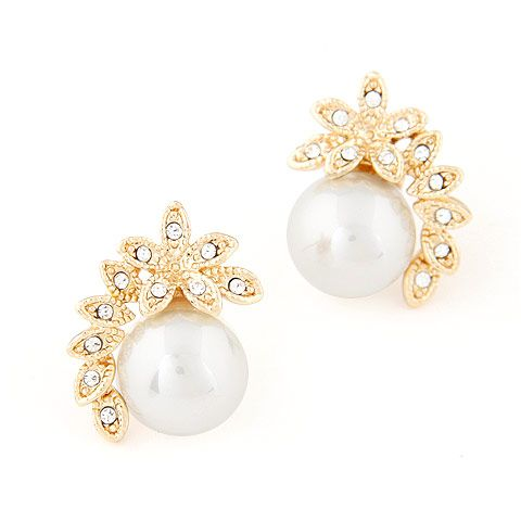 EXQUISITE Classic flower Beads ear studs 218117