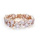 AAA grade zircon bracelet Small version of the Mona Lisa White + champagne 17154