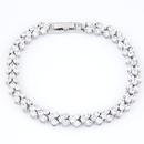 Brass white alloy dazzling sweetheart Cubic Zirconia bracelet  white  218458