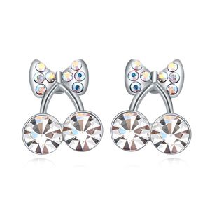 Austrian imitated crystal earrings Cherry White 17353