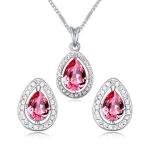 Austria Imitated crystal set ( Rose Red ) 18250