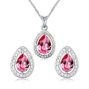 Austria Imitated crystal set  Rose Red  18250