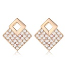 Austria imitated crystal earrings  White  +  Champagne alloy  18218