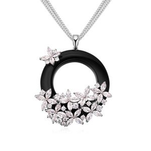 AAA-grade CZ necklace ( White ) 18162