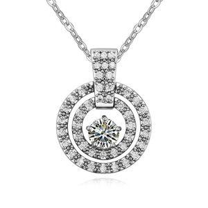 AAA-grade micro inlaid zircon necklace ( White ) 18080