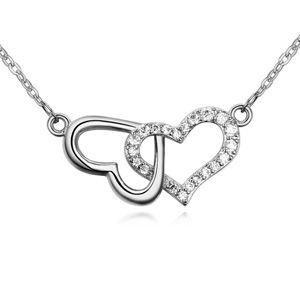 AAA-grade micro inlaid zircon ladies necklace ( White ) 18042