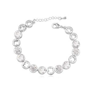 Austria Imitated crystal bracelet ( White ) 17918