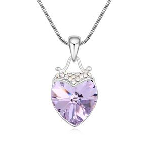 Austria Imitated crystal Necklace  Violet  17820
