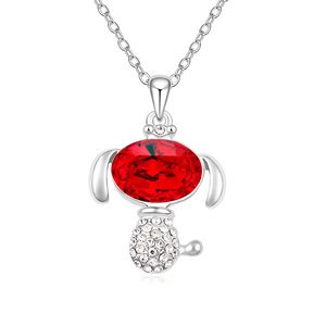 Austria Imitated crystal Necklace ( Light red ) 17829