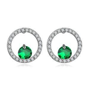AAAgrade micro inlaid zircon earrings  Green  17468