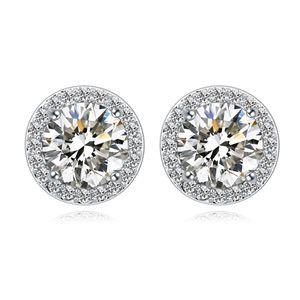 AAAgrade micro inlaid zircon earrings  White  17399