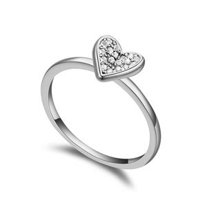 AAAgrade micro inlaid zircon ring  White  17373