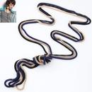Korean fashion concise threepiece all match sweater chain  white + gunblack + black  218797