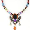 Occident fashion metal luxury gem pendant necklace 218680